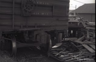 Boxcar on tracks