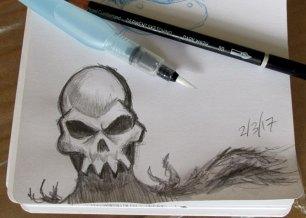 First Derwent Dark Wash drawing