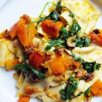 Pappardelle with Butternut Squash and Arugula
