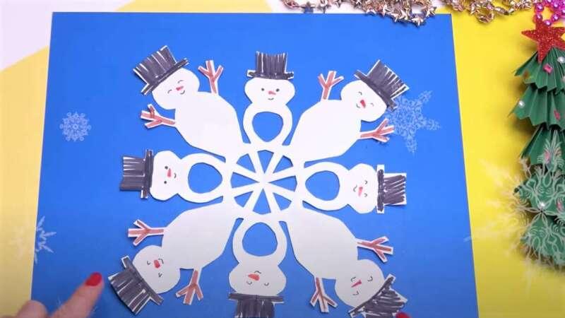 Жаңа жылға арналған снеговик - қар ұшқыны