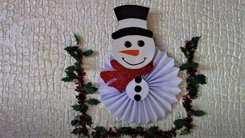 снеговик на стене