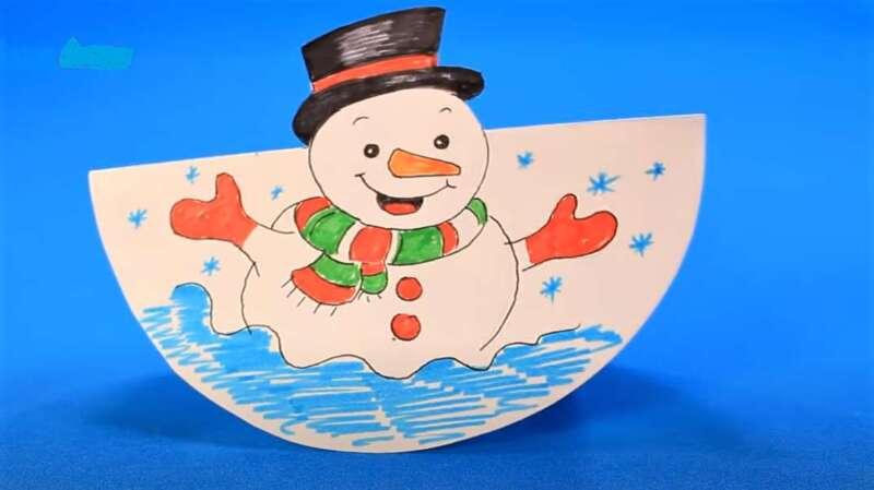 Жаңа жылға снеговик