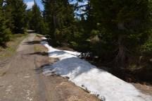 Snow in June near Morzine