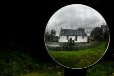 Rain in the mirror