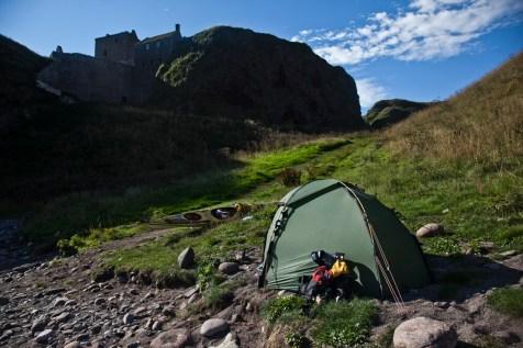 Camp below the castle
