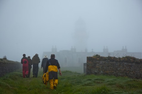 Lighthouse somewhere in the mist