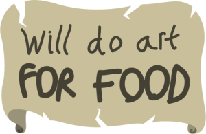 Will do art for food
