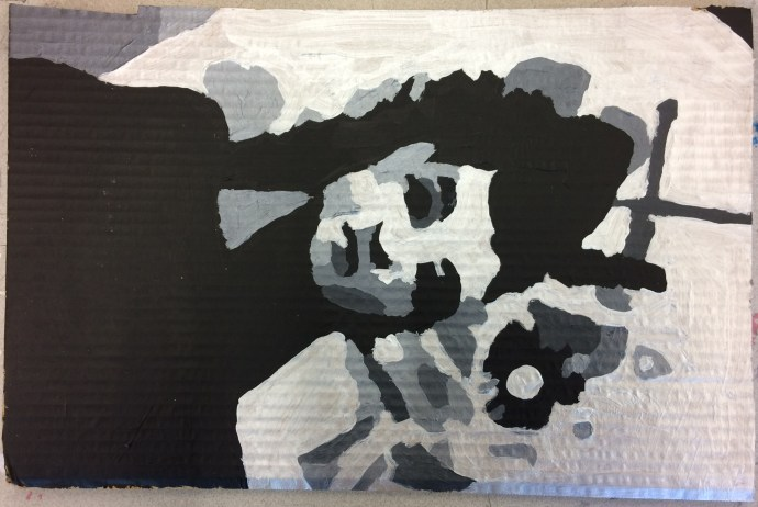 Maya Deren - Meshes of the Afternoon painting on card