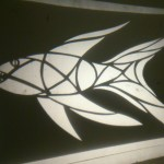 Fish stencil projection