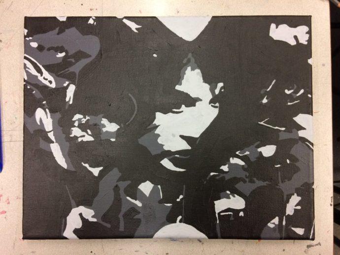 Maya Deren - At Land painting 2