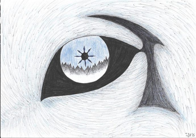 The wolf's eye