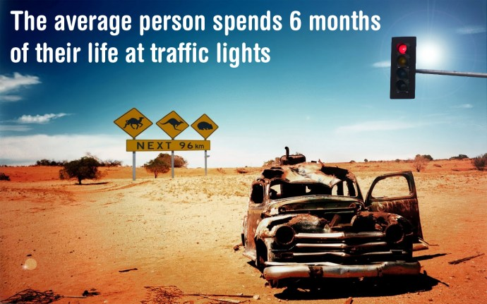 The average person spends 6 months of their life at traffic lights