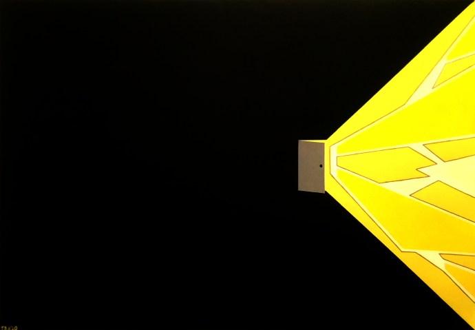The light behind an open door