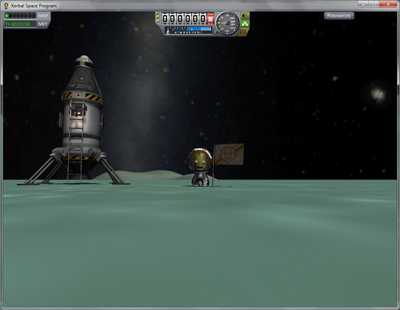 Jebediah Kerman on Minmus