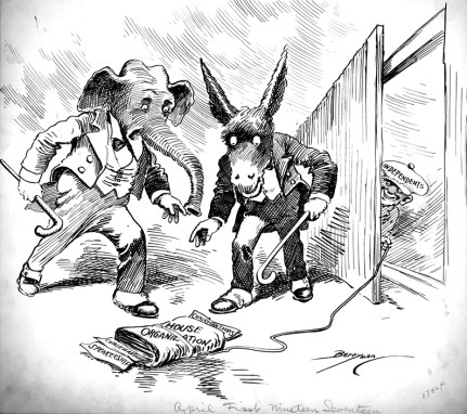 Political Cartoon: April 1, 1917