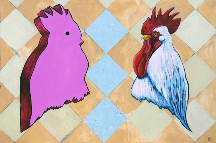 Fowl Clutter Original Oil Painting
