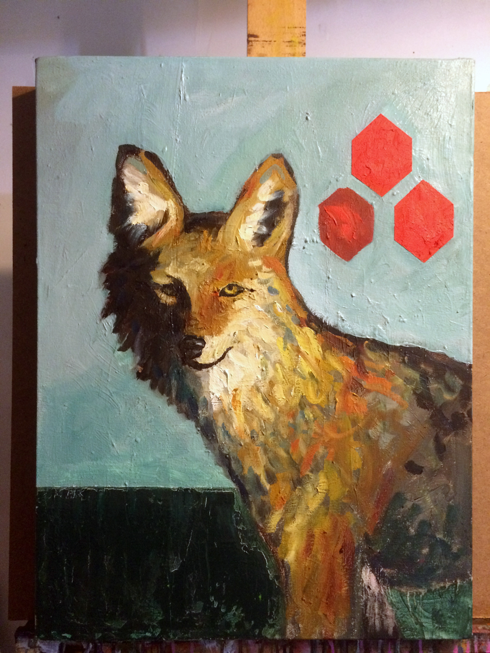 Foxontherun Animal Art Painting Will Eskridge