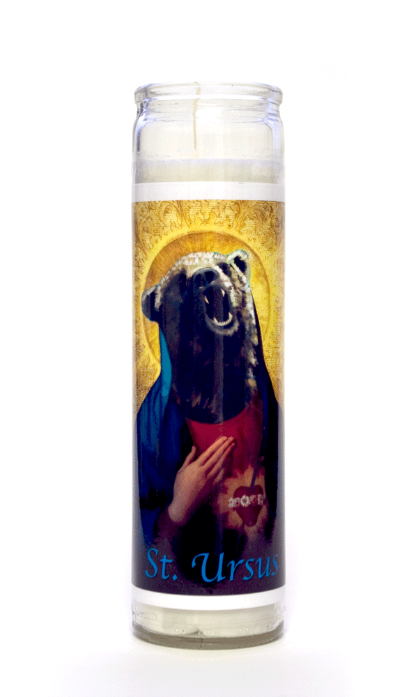Ursus Bear Icon painting animal spirit art prayer candle Will Eskridge