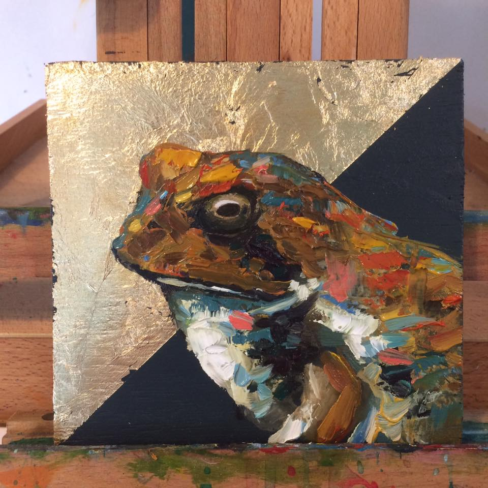 Goldeneye Animal Artist Art Painting Toad Frog Wildlife Will Eskridge