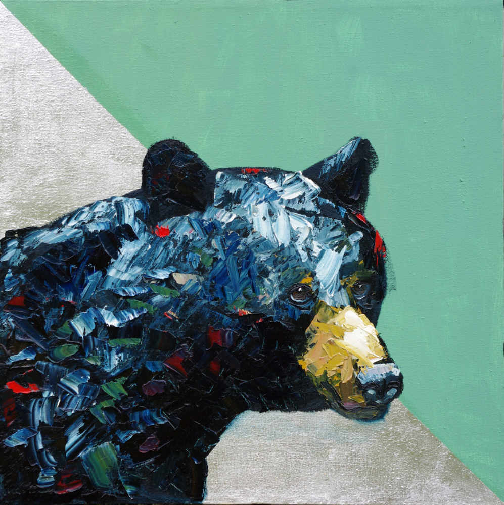 Family Matters Animal Art Wildlife Artist Will Eskridge Black Bear Painting-web