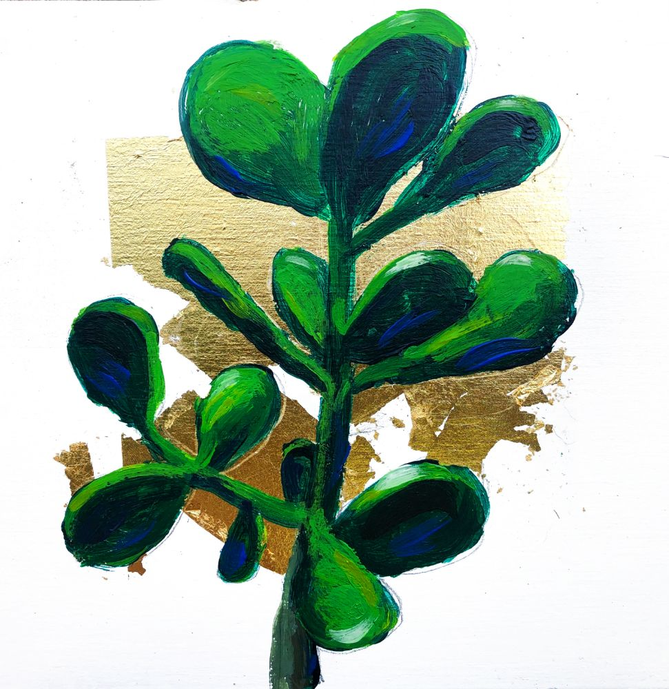 Money Plant Original Painting