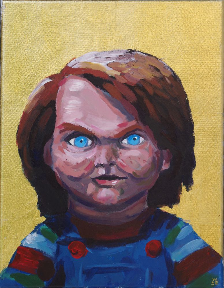 Saint Chucky Original Painting