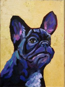 French Bulldog Frenchie contemporary pet portrait animal artist dog painting athens georgia Will Eskridge