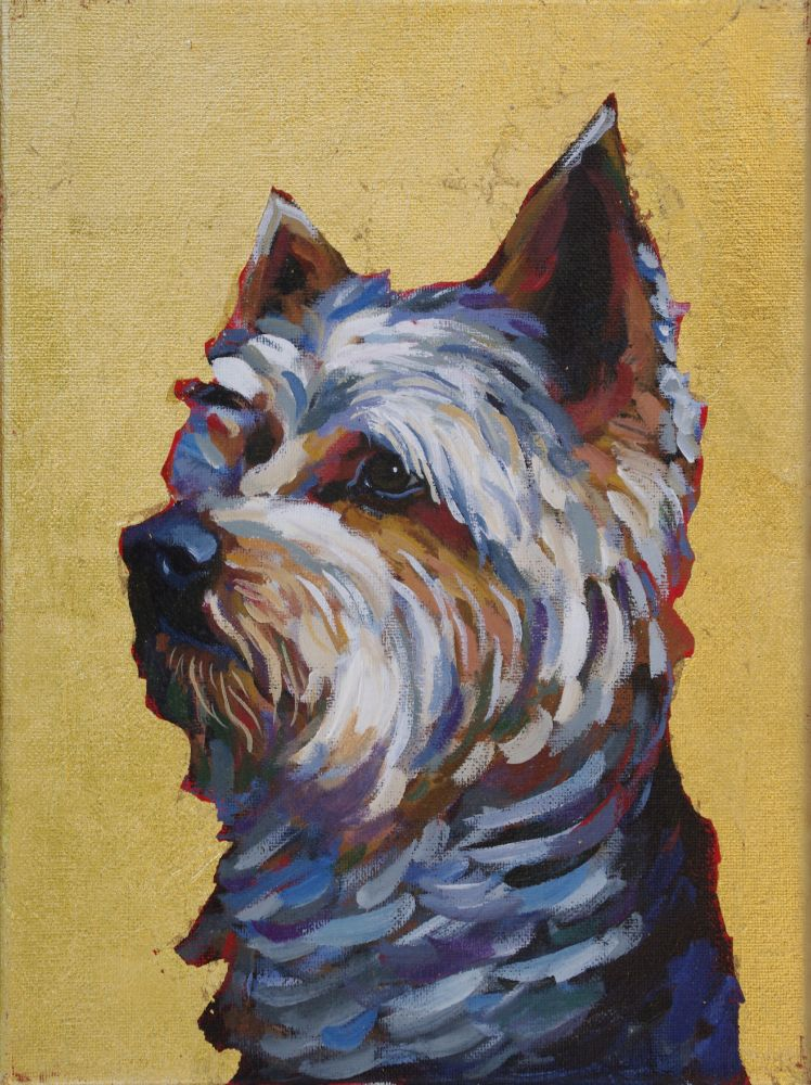 Yorkshire Terrier yorkie contemporary pet portrait animal artist dog painting athens georgia Will Eskridge