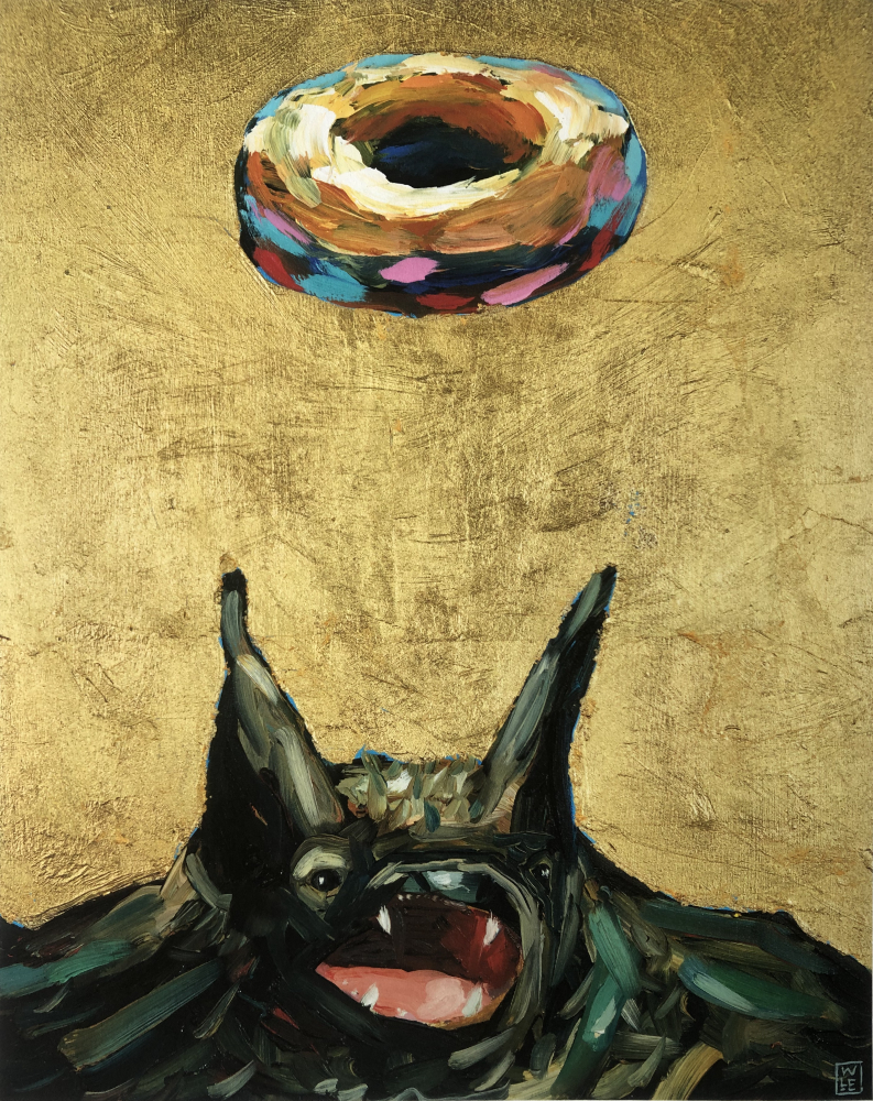 Simply Glazed Original Bat Donut Painting
