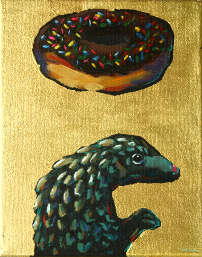 Donuts Will Save The World (Pangolin) Painting