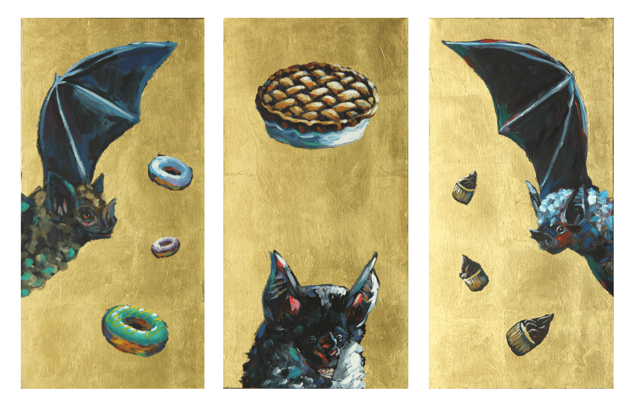 The Holy Trinity Bat Painting (triptych)