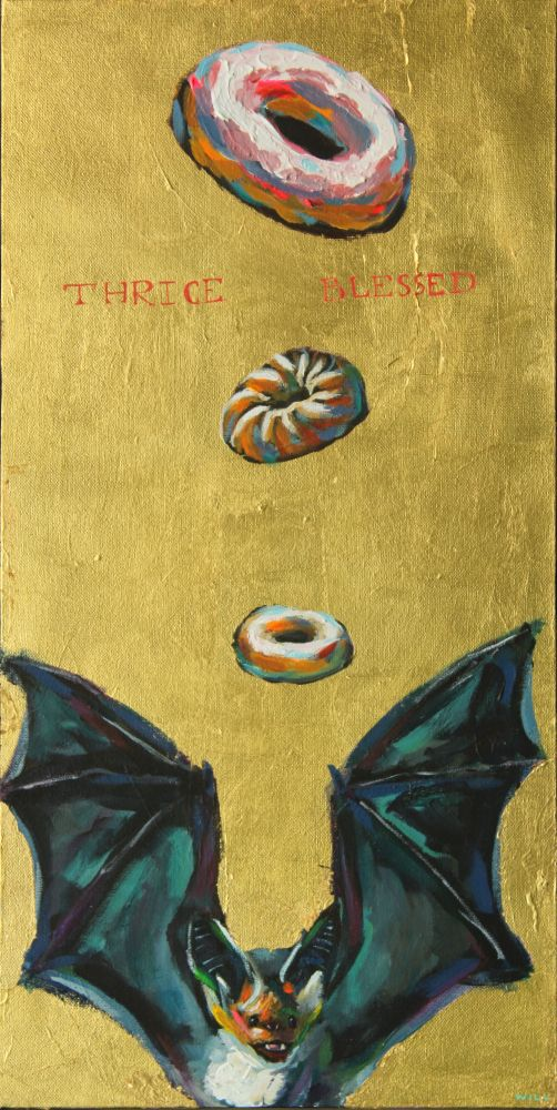 Thrice Blessed Donut Bat Painting