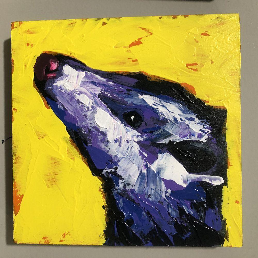Hit Single Possum Yellow Original Painting