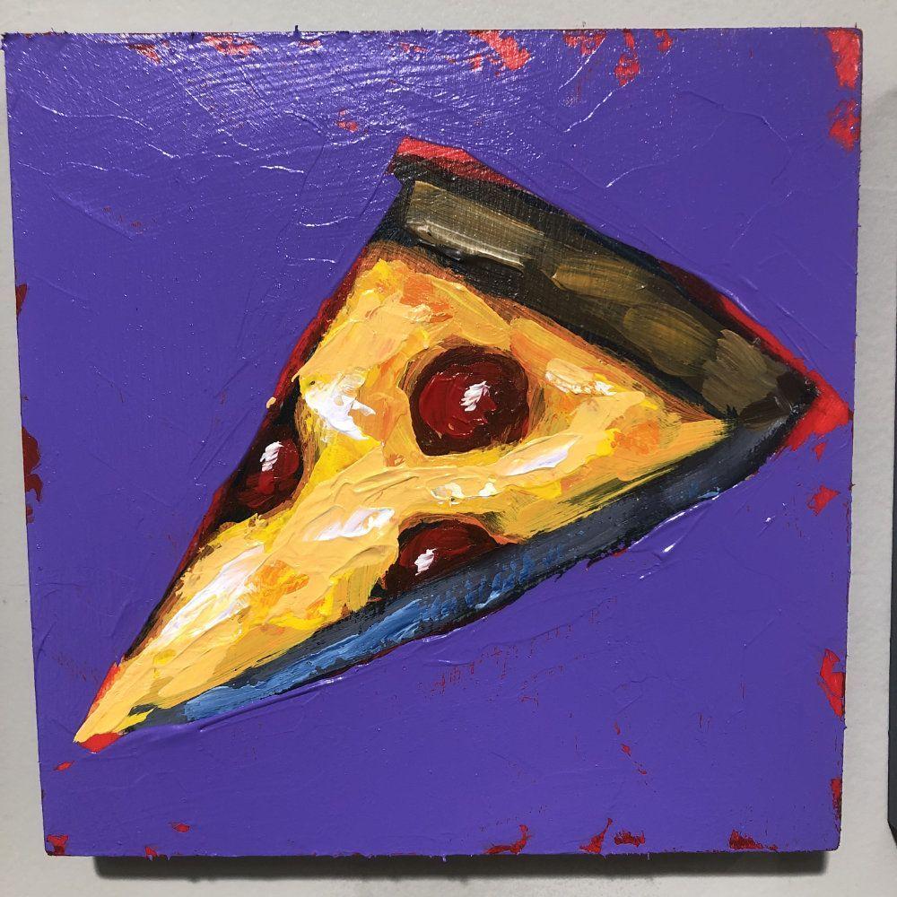 Hit Single Pizza Purple Original Painting