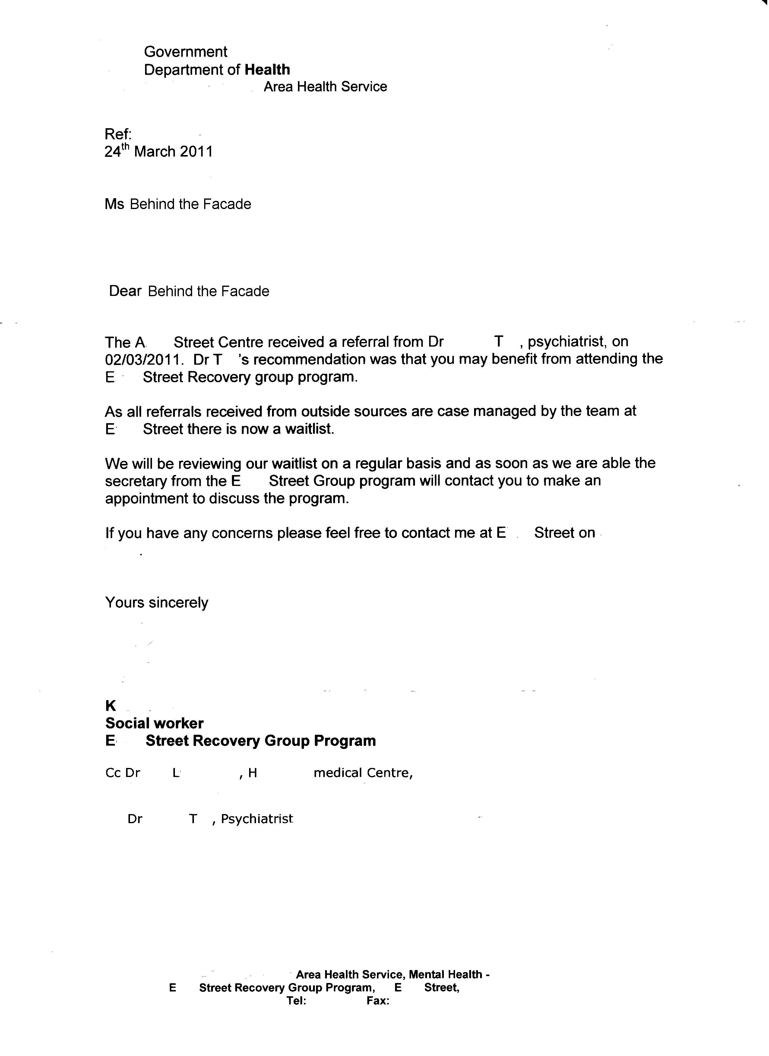 Medical Referral Letter