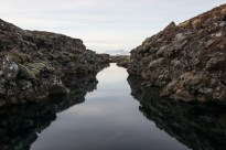 A split in the tectonic plates. To my right Europe, to my left America at Thingvellir National Park.