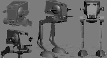 AT-ST Low-Poly for Game