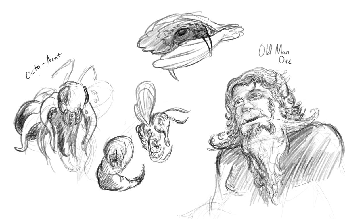 Sketchbook - Assorted Monsters