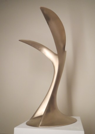 Libertas, hand crafted, brushed bronze, modern art, sculpture