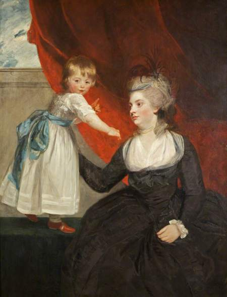 Reynolds, Joshua, 1723-1792; The Honourable Frances Courtenay, Lady Honeywood (b.1763), and Her Daughter