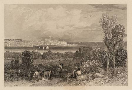 Powderham Park, Exmouth, engraved by E. Finden 1836 by Clarkson Frederick Stanfield 1793-1867