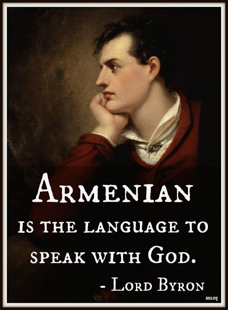 Armenian is the language to speak with God - Lord Byron_WilliamBairamian.me