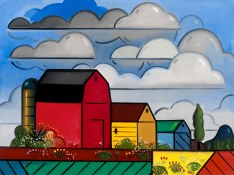 2014Painter's Farm #7. o-c, 30 x 40