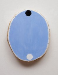 blue_oval_with_black_and_white_circles__acrylic_on_canvas__17x13.75x3