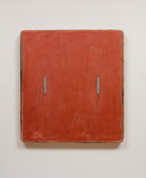 red_oxide_with_turqouise_lines__45_x_35.5x_4__acrylic_on_linen