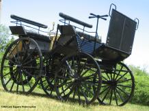 1886 Daimler-Benz Automobile Replica right corner