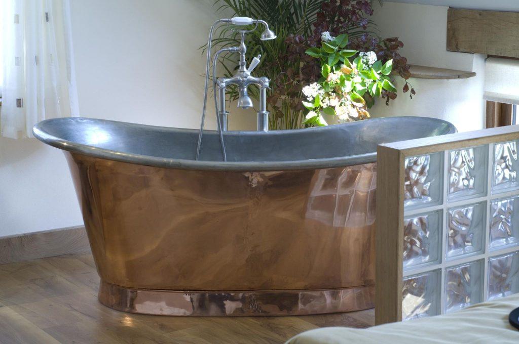Bateau Bath William Holland Copper Brass Nickel And