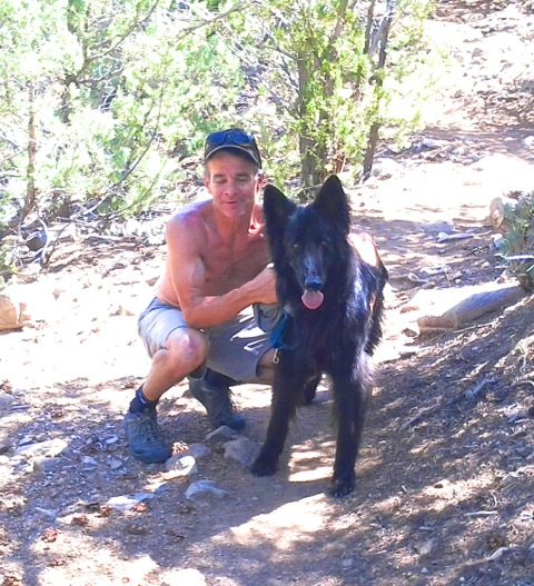 Mark & Pepe on So Boundary Trail 7-18-16