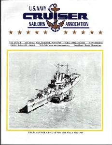Magazine of the U.S. Navy Cruiser Sailors Association