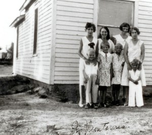 Author Bill McGee (left) and his three siblings, Montana, 1930